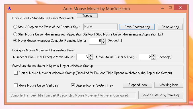 Auto Mouse Mover by MurGee.com