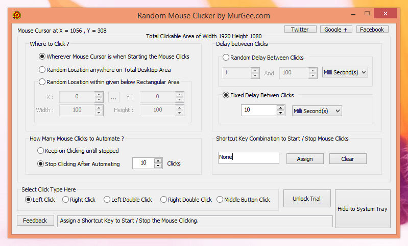 Random Mouse Clicker by MurGee.com