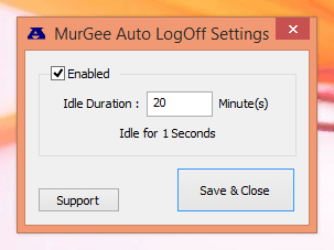 Auto LogOff for All Users
