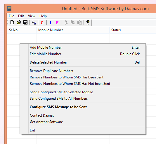 Bulk SMS Software for Windows 8