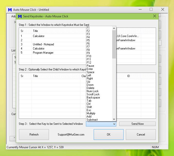 Configure Key Presser Action of KeyPresser Macro Script