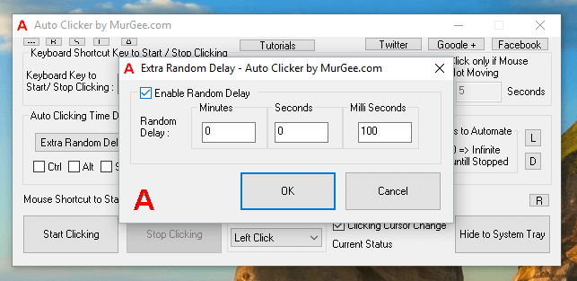 Extra Random Time Delay to Control Mouse Clicking Speed